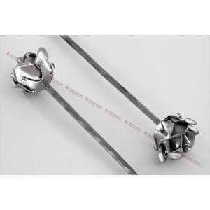 La m tallerie fu39 rose en fer forg avec tige - Rose avec tige ...