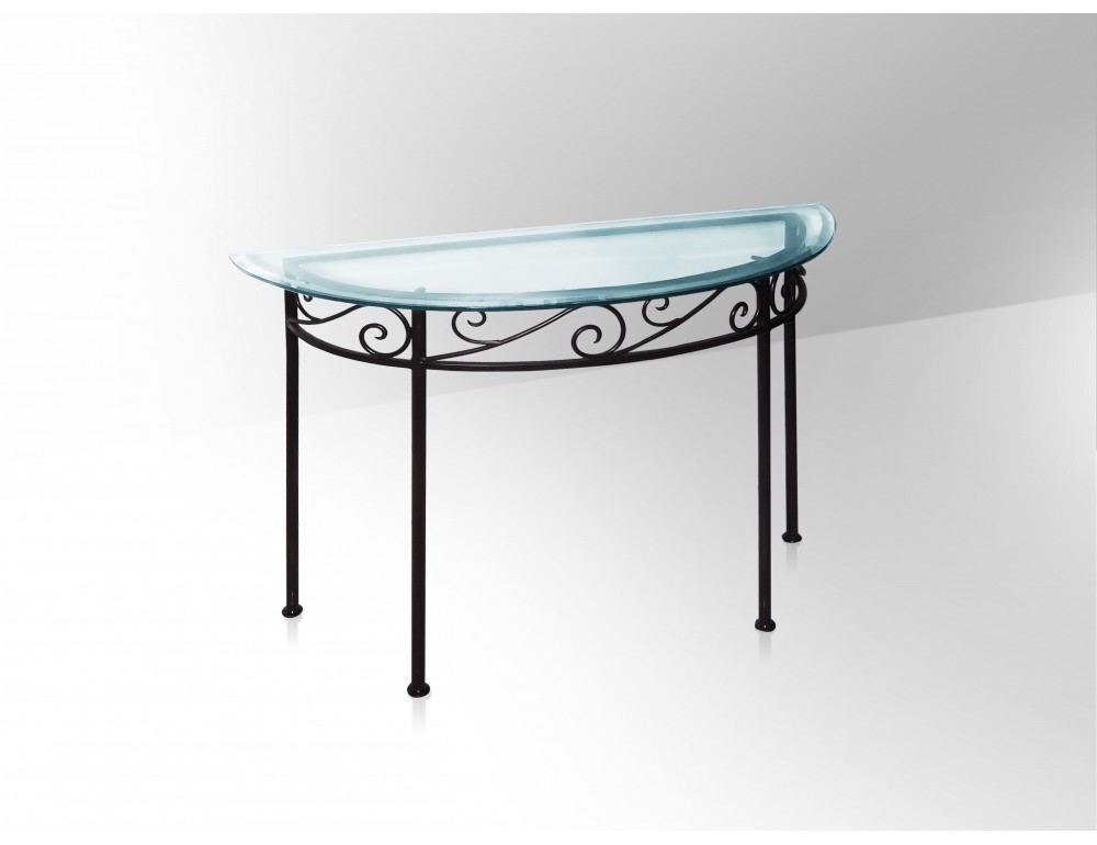 Table console plateau verre for Nettoyer table en verre