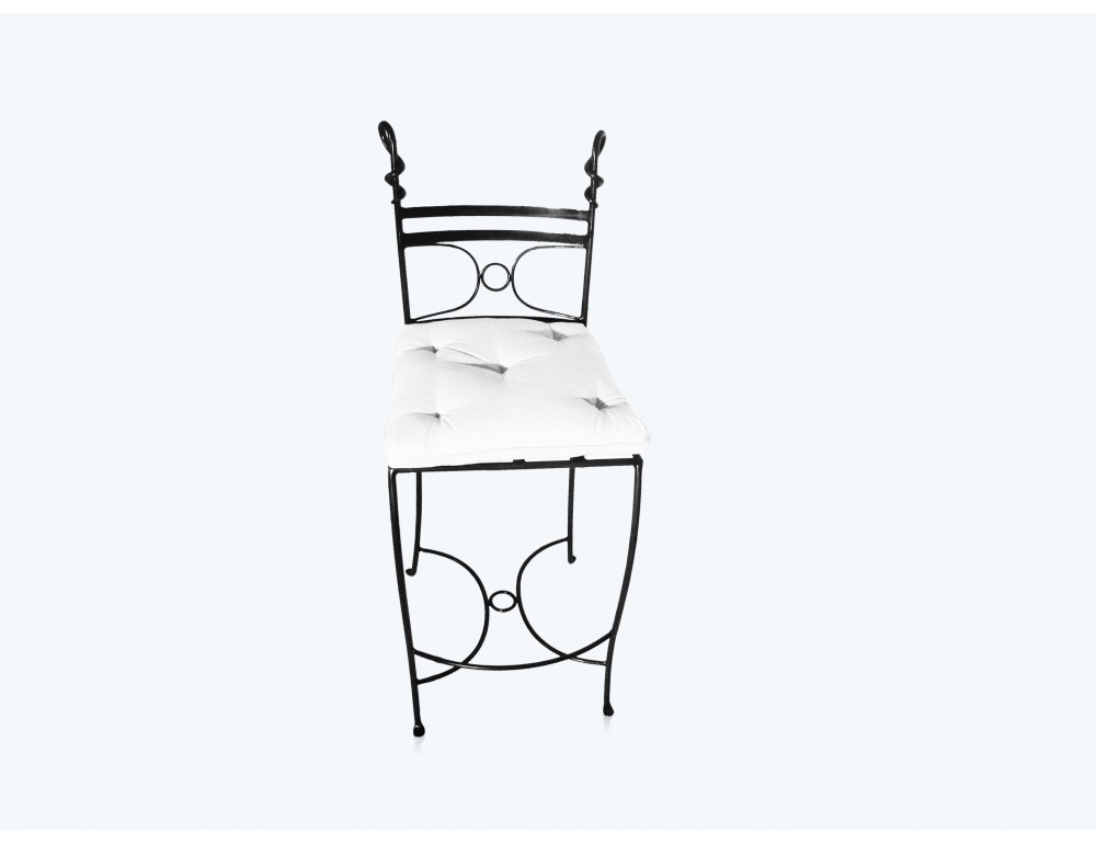 la m tallerie chaise haute tabouret de bar en fer forg. Black Bedroom Furniture Sets. Home Design Ideas