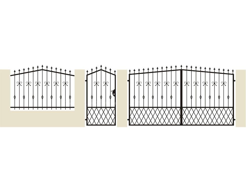 la m tallerie portail en fer forg pinson portail traditionnel. Black Bedroom Furniture Sets. Home Design Ideas