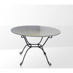 Tables fer forg for Table ronde verre fer forge