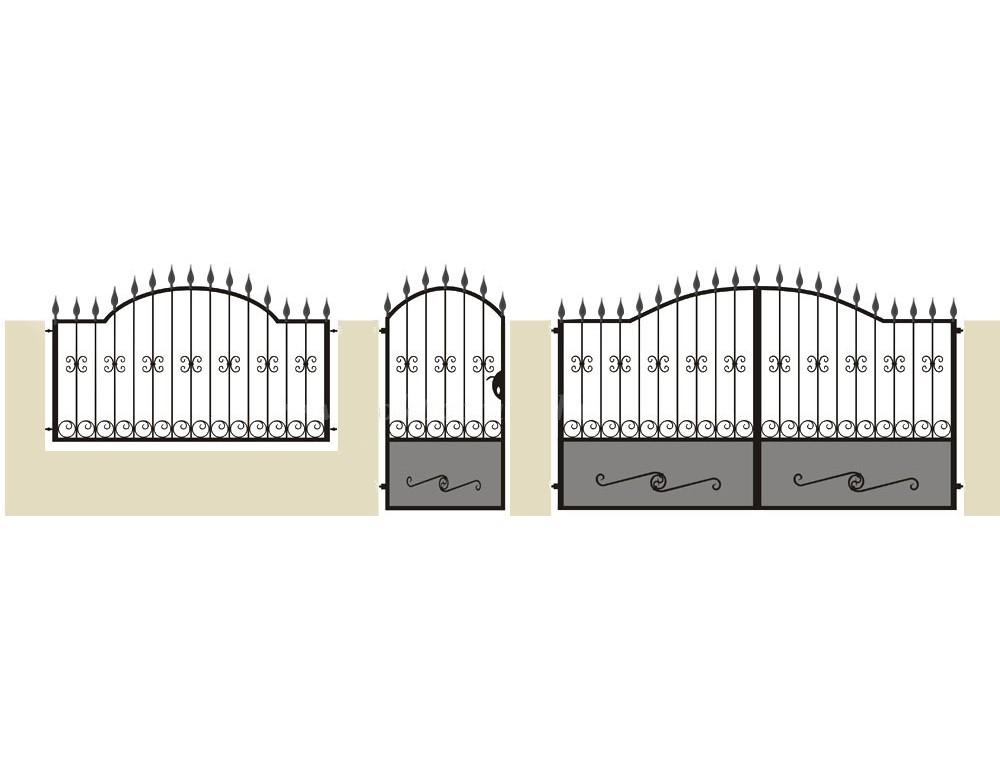 La m tallerie portail en fer forg pinson portail for Peindre un portail en fer
