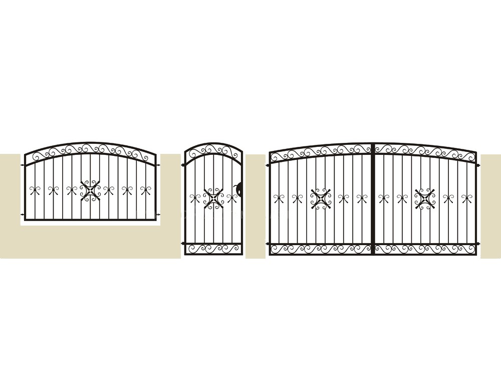 La m tallerie portail en fer forg pinson portail traditionnel for Peindre portail fer