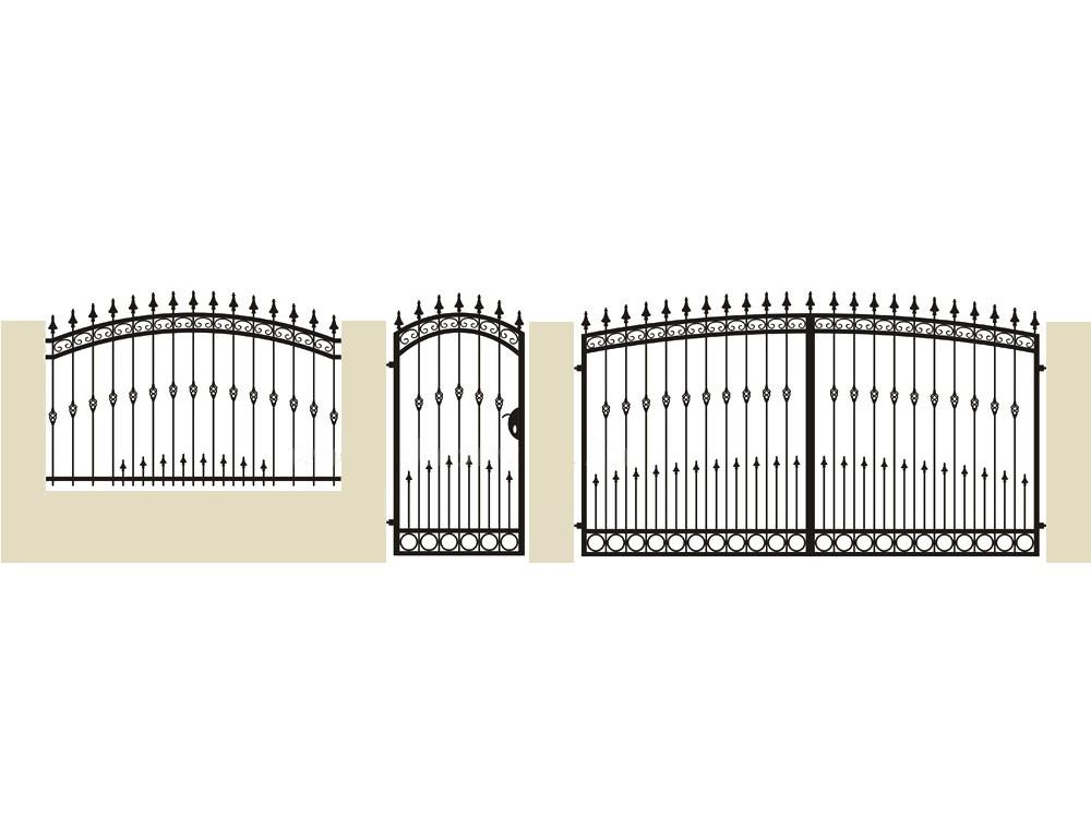 la m tallerie portail en fer forg pinson portail. Black Bedroom Furniture Sets. Home Design Ideas