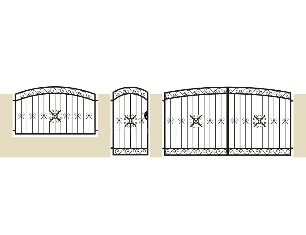 La m tallerie portail en fer forg pinson portail for Petit portail fer forge