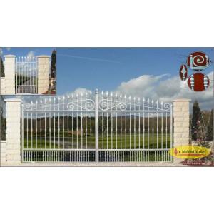 La m tallerie portail fer forg nautile for Port fer forge 2013