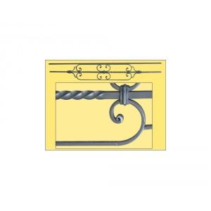 appui de fen tres en fer forg n 3 gris anti rouille la m tallerie. Black Bedroom Furniture Sets. Home Design Ideas